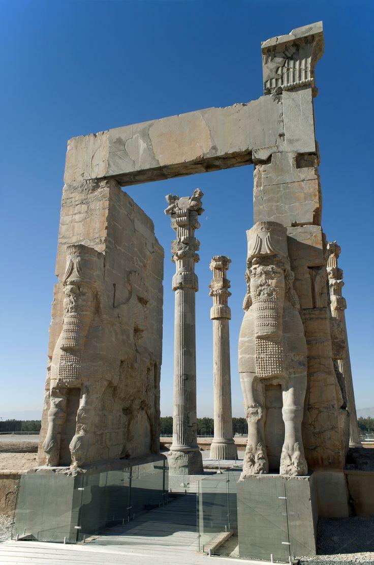 Gates of the nations Persepolis Iran.