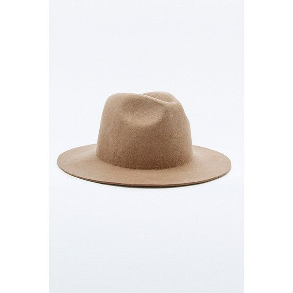 Rhythm Pocket Trilby Camel Hat ($48) ❤ liked on Polyvore featuring men's fashion, men's accessories, men's hats, tan, mens wide brim hats, mens trilby hats and mens felt hats