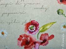 Home Decor Fabric with Poppies