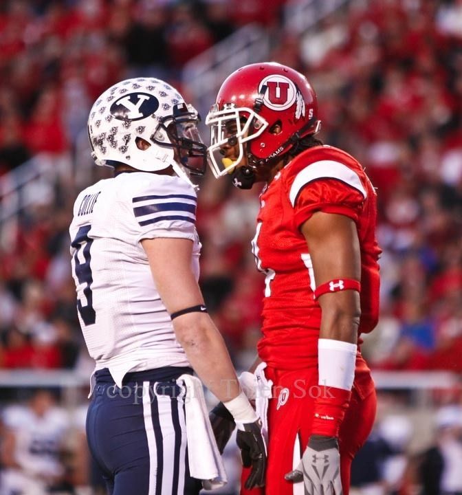Great Utah-BYU rivalry moments    #BYU #LDS #BYUsports