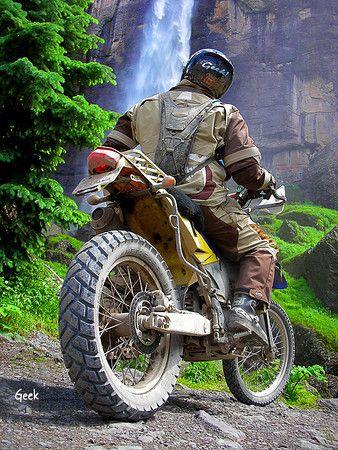 """wilderness motorcyle touring or """"Adventure Riding"""" as its called...."""