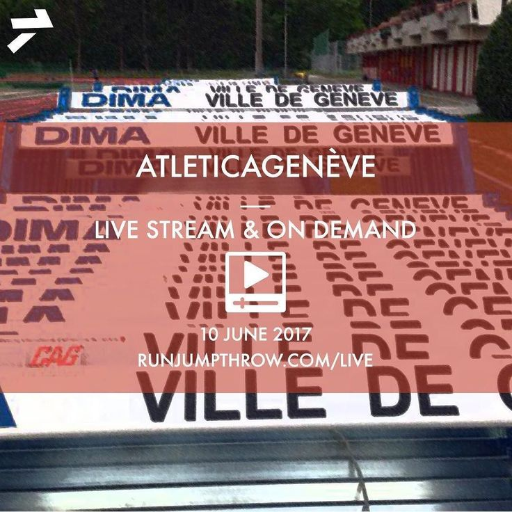 One week today we'll be streaming live from Geneva! Link in bio! . . . #RunJumpThrow #Vinco #FieldNation #TrackNation #TrackAndField #runnerspace #Geneva #AthletiCAGeneve