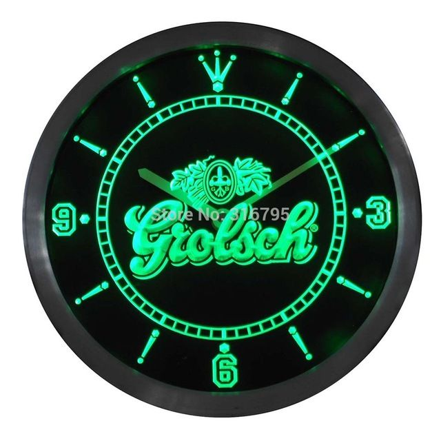 Check it on our site nc0002 Grolsch Beer Neon Sign LED Wall Clock just only $36.99 with free shipping worldwide  #clocks Plese click on picture to see our special price for you
