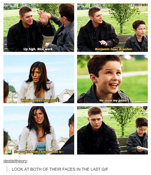 Supernatural - Dean & Ben - too cute! <--- Mom voice on full power, note use of full name.