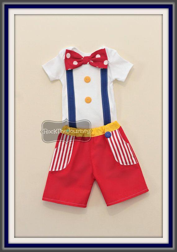 Boy Big Top Circus Birthday Party Boy Outfit por RockTheJourney