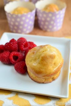Slimming Eats Lemon Drizzle Muffins - vegetarian, Slimming World and Weight…