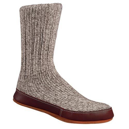 Acorn Mens And Womens Grey Ragg Wool Slipper Sock Slippers For A Pair Of Warm