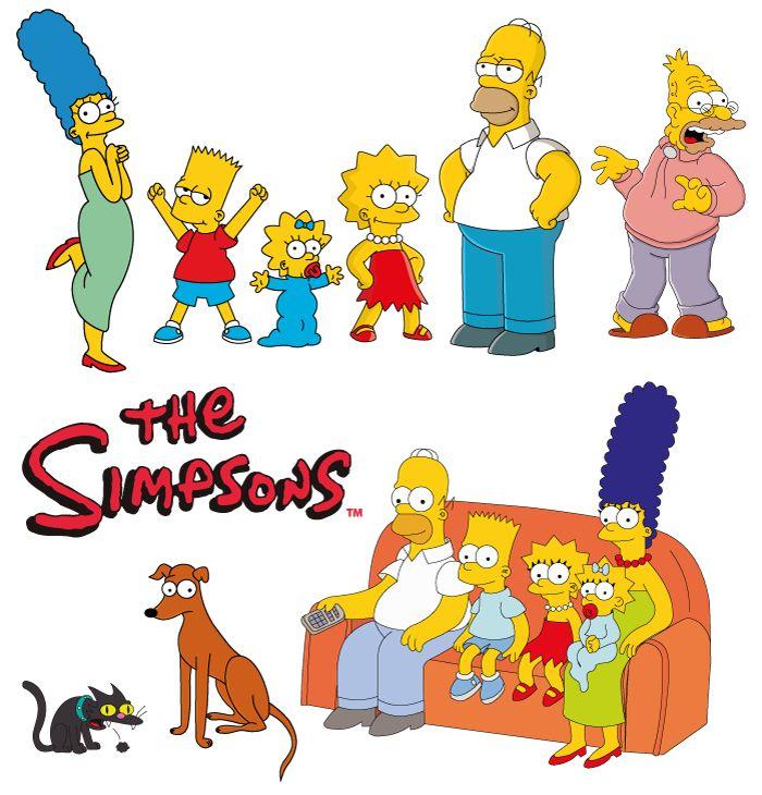 La Familia Simpson. Vector e imagen normal de La Familia Simpson, incluido el abuelo y las mascotas. Descarga gratis. The Simpsons family