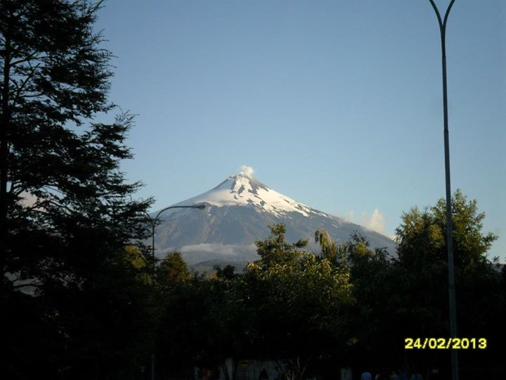 Volcan Villarica, Region de La Araucania, Chile.