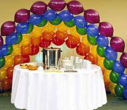 arcos coloresjpg cmo decorar con globos cadena