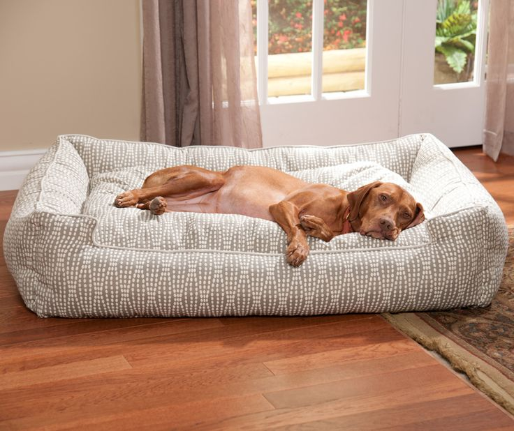 The whole process is super, super easy. Once you pick a bed style, you can move on to choosing from a huge selection of top-quality dog bed fabrics. These luxury fabrics come in a variety of styles to match pretty much every home and taste. Available sizes depend on the style you choose, but there are options available for just about every size of dog.