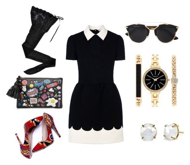 My preppy Street style by Mimi by mokatsanemk on Polyvore featuring polyvore fashion style RED Valentino HYD Anya Hindmarch Style & Co. Christian Dior women's clothing women's fashion women female woman misses juniors