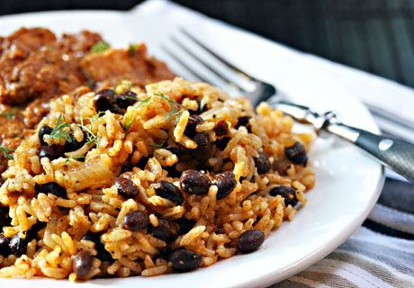 Quick and easy black beans and rice comes together in just 10 minutes