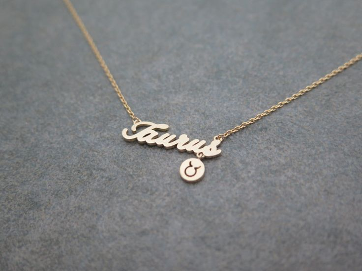 Mothers day gift ,Zodiac Constellation Necklace,Zodiac-sign, Taurus / the Bull (Apr 20 - May 20) necklace with giftbox by MinimalBijoux on Etsy