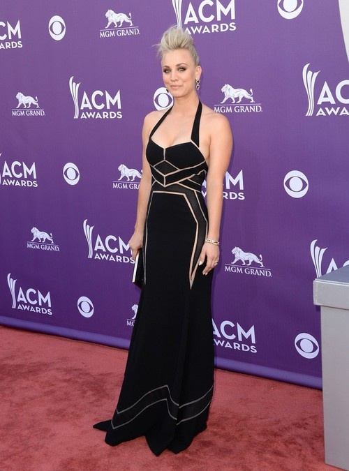 Kaley Cuoco at 48th Annual Academy of Country Music Awards in Las Vegas on April 7, 2013