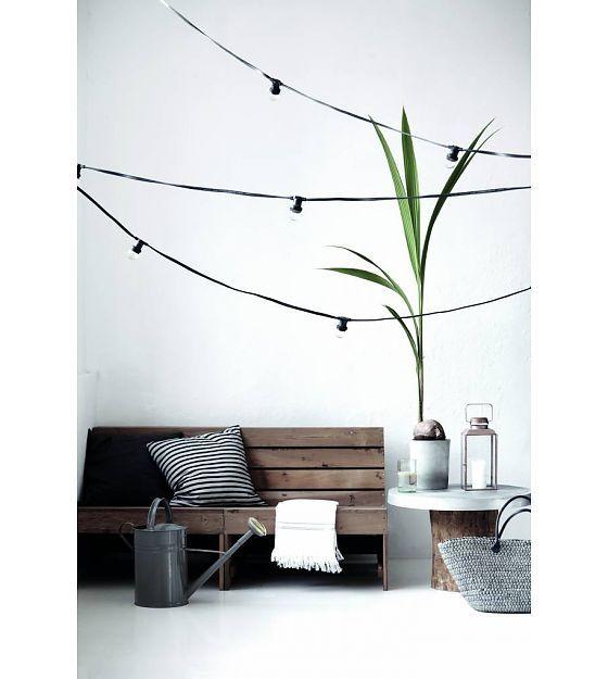Seletti Licht ketting met 10 light bulbs rubber zwart L14,2m - wonenmetlef.nl