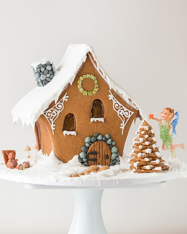 Creative gingerbread house ingredients