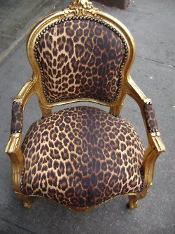 Vintage -- Love Love Love this chair!!... Everytime I see leopard print on something... it literally, triggers a salivation response...
