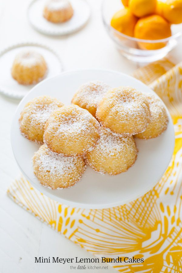 Mini Meyer Lemon Bundt Cakes from thelittlekitchen.net