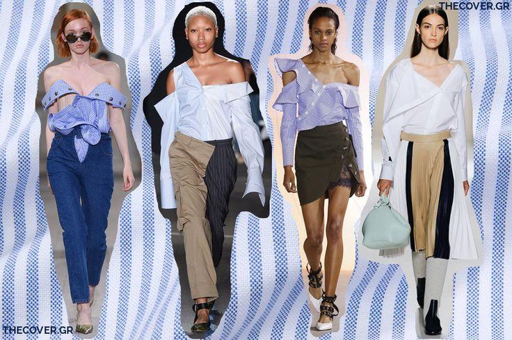 deconstructed shirts άνοιξη καλοκαίρι 2017 τάσεις μόδας