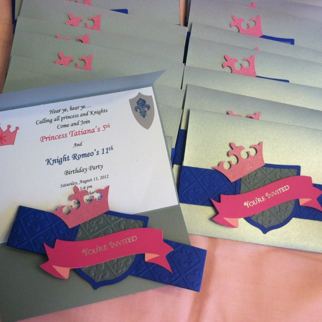 89 best images about Princess party – Princess and Knight Party Invitations