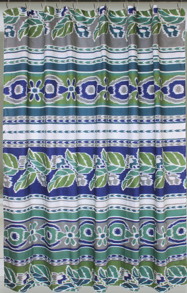 Mediterranean Cotton Shower Curtain