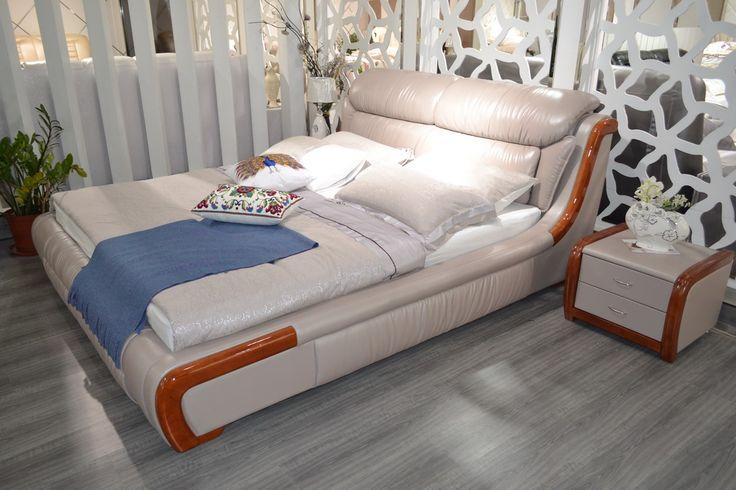 Cabecero Cama Soft Bed Modern Bedroom Furniture New Arrival Limited King No Genuine Leather Muebles 2016 Soft Bed Sofa Beds