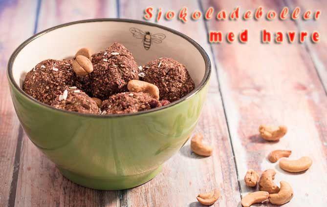Sjokoladeboller med havre - http://sunndessert.no/sjokoladeboller-med-havre/ - - #Kjeksogboller