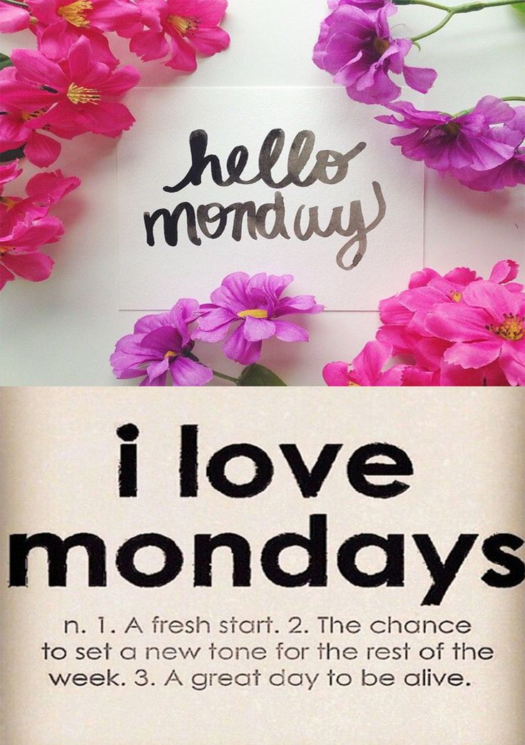 Start the week on a positive note, make it a good week!  Happy Monday!