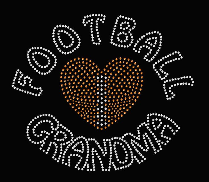 Football Grandma rhinestone bling shirt.   Etsy shop https://www.etsy.com/listing/263121461/football-grandma-rhinestone-shirt-tshirt