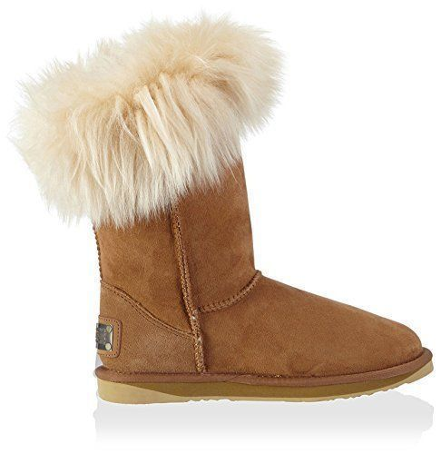 $310 NEW Australia Luxe Collective Foxy Shearling Chestnut Boots Size 9 #AustraliaLuxeCollective #SnowWinterBoots #Casual