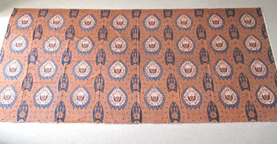Vntg Indonesian batik Solo wax fabric kain sarong by StudioKroko
