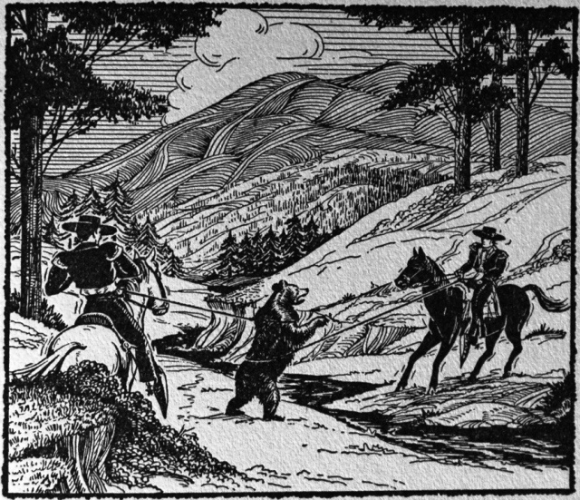 Gladiator Games of Bulls and Bears: Lassoing Grizzlies(1904)