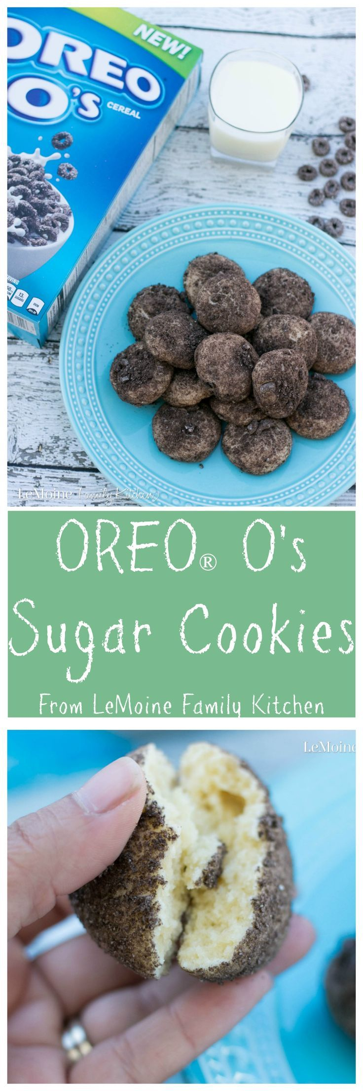 OREO®️️ O's Sugar Cookies. A perfect back to school snack with the #BestCerealEver. Perfectly dunk-able sugar cookie coated in crushed OREO O's cereal! #ad @ShopRiteStores