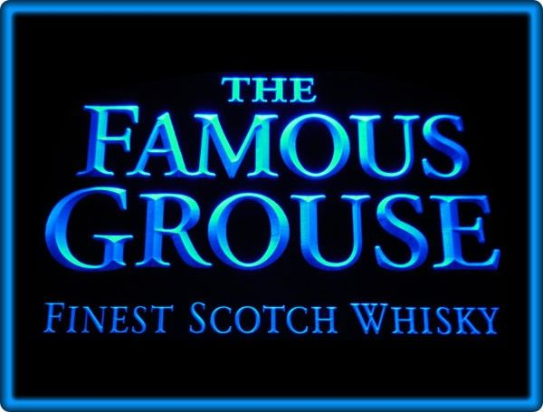 Famous Grouse Whisky Bar Pub Restaurant Neon Light Sign