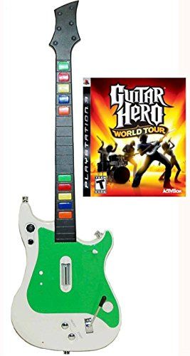 Playstation 3 PS3 Wireless Guitar Controller  Guitar Hero World Tour Video Game kit bundle set GH rock music band >>> Check this awesome product by going to the link at the image.