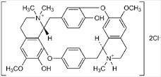 La tubocurarina, alcaloide principal del curare, es el primer compuesto conocido con actividad antagonista sobre los receptores nicotínicos de la unión neuromuscular.