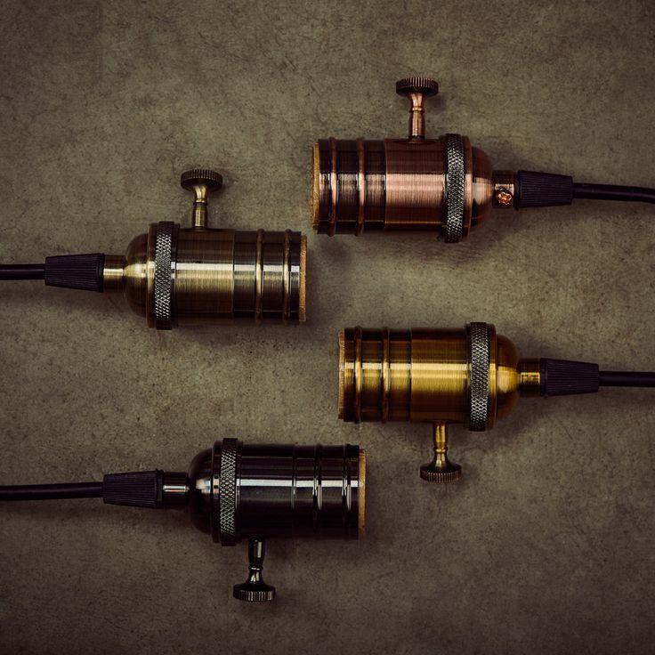 1 PC E26/E27 Gniazdo Lampy W Stylu Vintage Edison Światło Uchwyt Klasyczny Retro Edison Żarówka Oprawka Przemysłowe Wisiorki Gałka Podstawy Lamp