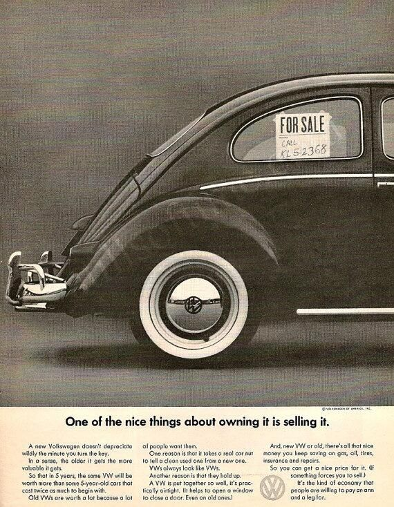 Volkswagen 1966 Vintage Bug Ad