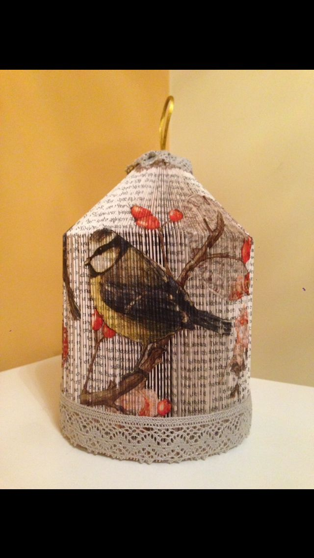 Birdcage with decoupage finish. Andi's crafty creations on Facebook