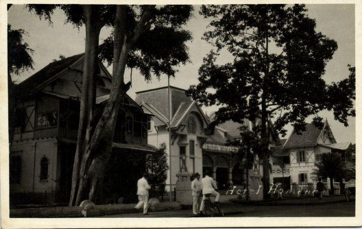 indonesia, JAVA BANDOENG BANDUNG, Hotel Homann (1930s) RPPC nl.picclick.com