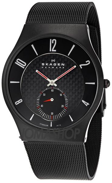 Skagen Titanium Black Mens Watch 805XLTBB