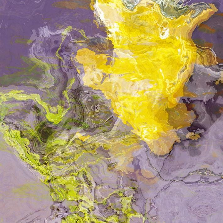 Abstract art giclee with gallery wrap canvas 24x24 Summer Light