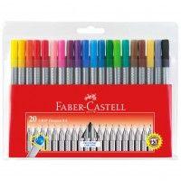 Cienkopis Faber-Castell Grip zestaw 20 kolorów