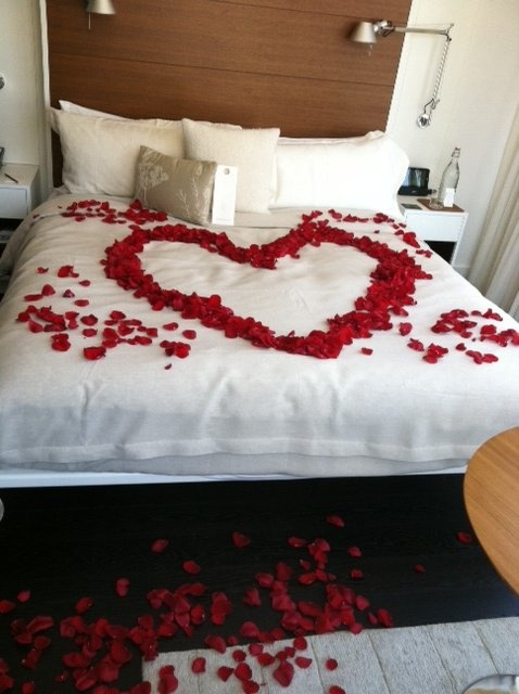 Romantic Rose Petal Turn Down. I would die if someone surprised me with this!