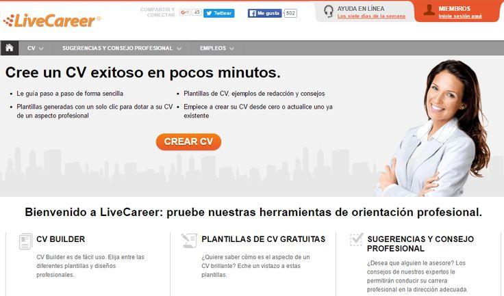 crear curriculum online livecareer