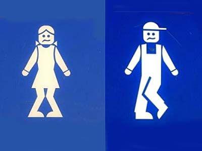 Bathroom Door Signs. Més real, no? Je,je