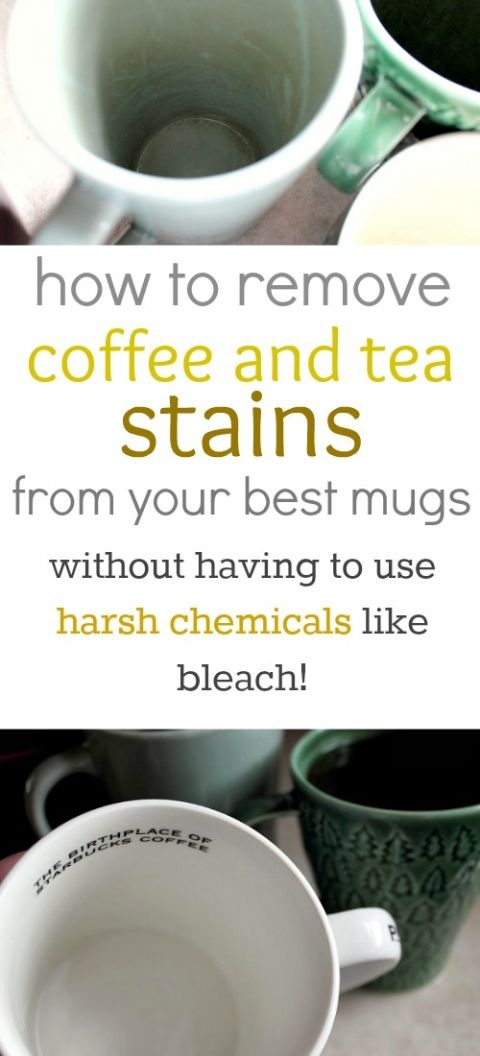 If you're a coffee or a tea drinker, you may be curious about how to remove tea stains from your cups and mugs. Here's how to do it easily without having to use harsh chemicals!