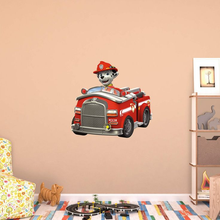Fathead PAW Patrol Marshalls Fire Truck Wall Decal - 18-00074