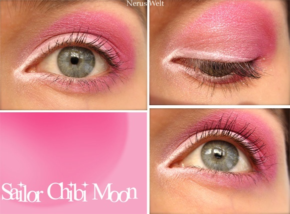 Sailor Chibi Moon inspired make up by http://nerus-welt.blogspot.de/2013/01/amu-sailor-chibi-moon.html